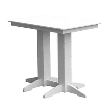 Rectangular Recycled Plastic Bar Table