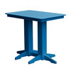 Rectangular Recycled Plastic Bar Table