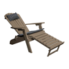 Recycled Plastic Reclining Adirondack Chair with Pullout Ottoman