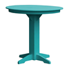 Round Recycled Plastic Bar Table