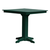 Square Recycled Plastic Bar Table