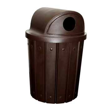 42 Gallon Round Signature Series Plastic Receptacle