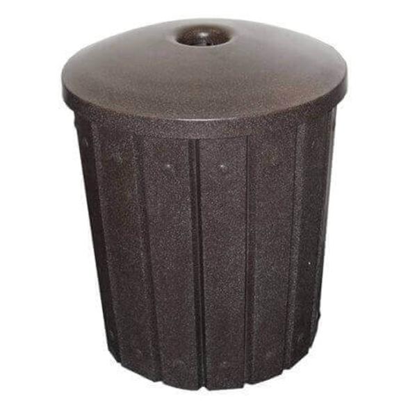 42 Gallon Round Slat Design Plastic Receptacle