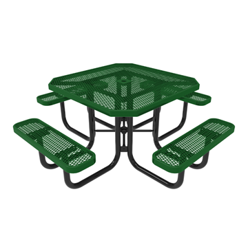 "RHINO 46"" Octagon Thermoplastic Polyolefin Coated Picnic Table"