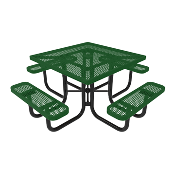 "RHINO 46"" Square Thermoplastic Polyolefin Coated Picnic Table - Quick Ship - Expanded"