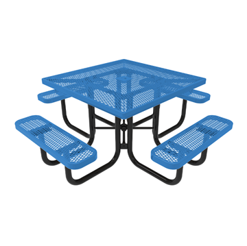 """Elite Series 46"""" Square Thermoplastic Polyethylene Coated Picnic Table"""