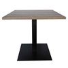 Square Vanguard Outdoor Dining Table with Aluminum Base