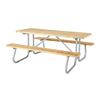 6 Ft. Wooden Picnic Table with Welded Galvanized Steel Frame