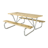 6 Ft. Wooden Picnic Table with Bolted Galvanized Steel Frame