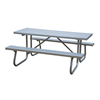 12 Ft. Aluminum Picnic Table with Welded Galvanized Steel Frame