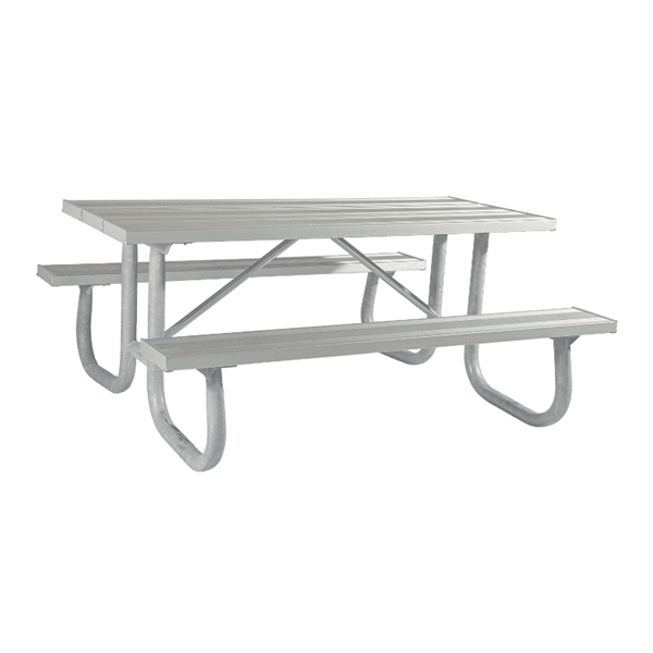 12 Ft. Heavy Duty Aluminum Picnic Table with Welded Galvanized Steel Frame