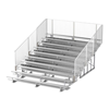 15 ft. 10 Row Aluminum Bleacher with Guardrails and Double Footboards