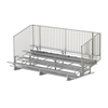 15 ft. 4 Row Portable Aluminum Bleacher with Guardrails and Double Footboards