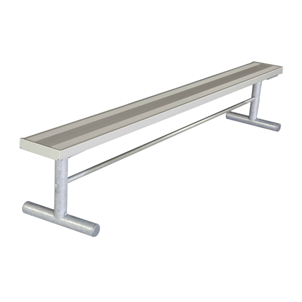 15 Ft. Portable Aluminum Backless Sports Bench with Galvanized Steel Frame