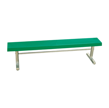 15 Ft. Portable Fiberglass Backless Sports Bench with Galvanized Steel Frame