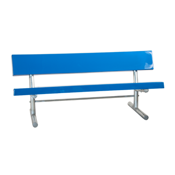 15 Ft. Portable Fiberglass Park Bench with Galvanized Steel Frame