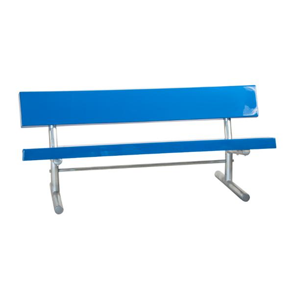 15 Ft. Portable Fiberglass Park Bench with Galvanized Steel Frame
