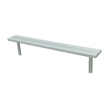 15 Ft. Stationary Aluminum Backless Sports Bench with Galvanized Steel Frame