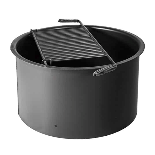 """ADA 18"""" High Steel Fire Ring, 30"""" Dia, 300 Sq. In. Cooking Surface"""