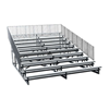 21 ft. 10 Row Aluminum Bleacher with Guardrails and Double Footboards