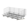 21 ft. 4 Row Portable Aluminum Bleacher with Guardrails and Double Footboards