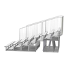 21 ft. 8 Row Aluminum Bleacher with Guardrails and Double Footboard