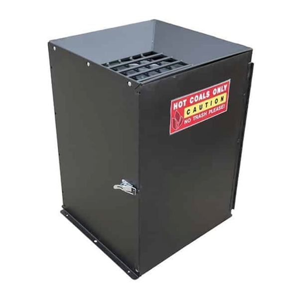 "23"" Square Steel Coal Ash Receptacle for Park Grills"