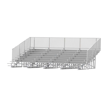 27 ft. 10 Row Aluminum Bleacher with Guardrails and Double Footboards