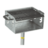 300 Sq. In. Park Galvanized Outdoor Charcoal Grill
