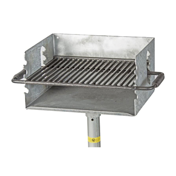300 Sq. In. Park Outdoor Galvanized Charcoal Grill with Flip Grate