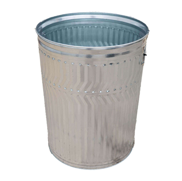 32 Gallon Galvanized Steel Trash Can