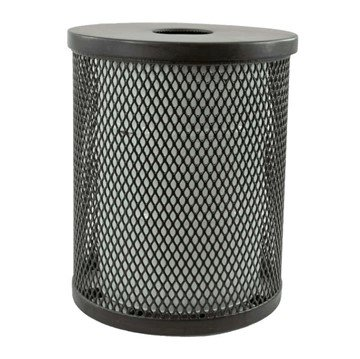 32 Gallon Plastisol Expanded Metal Trash Receptacle