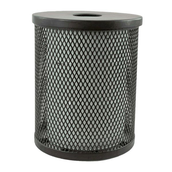 32 Gallon Plastisol Expanded Metal Trash Receptacle