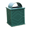 32 Gallon Square Laser Cut Plastisol Steel Trash Receptacle