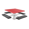 """46"""" Square Plastisol Coated Expanded Metal Picnic Table"""