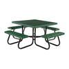 """46"""" Square Plastisol Expanded Metal Picnic Table"""