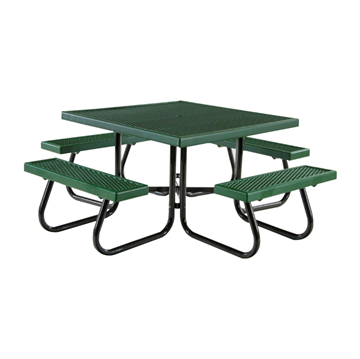 "46"" Square Plastisol Expanded Metal Picnic Table"