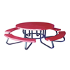 "48"" Round Children's Fiberglass Picnic Table with 1-5/8"" O.D. Tube Steel Frame"