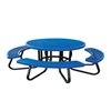 """48"""" Round Children's Plastisol Coated Expanded Metal Picnic Table with Galvanized Frame"""