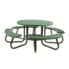 """48"""" Round Plastisol Expanded Metal Picnic Table"""