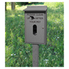 Recycled Plastic Pet Waste Bag Dispenser with Post