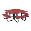 """48"""" Square Children's Plastisol Coated Expanded Metal Picnic Table"""