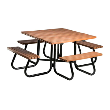 "48"" Windsor Collection Square Recycled Plastic Picnic Table"