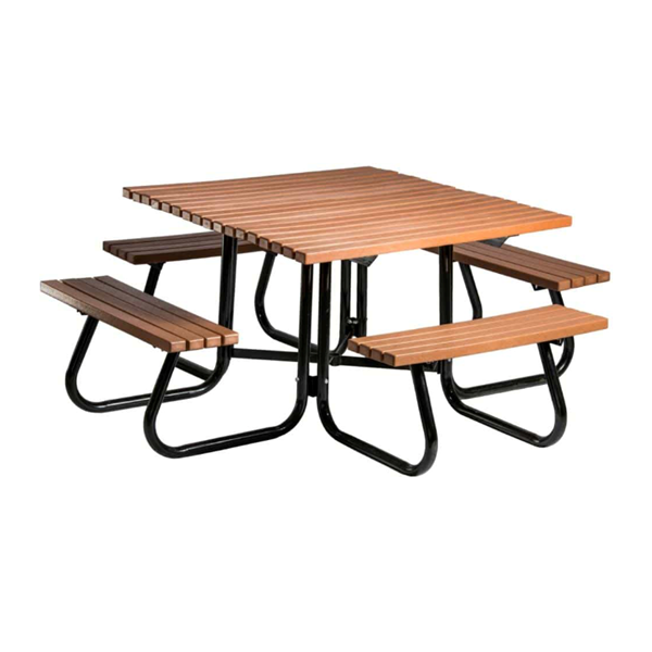 """48"""" Windsor Collection Square Recycled Plastic Picnic Table"""