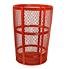 52 Gallon Galvanized Mesh Basket Trash Can