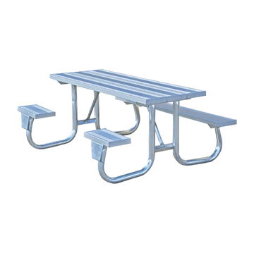 6 Ft. ADA Aluminum Picnic Table with Galvanized Steel Frame