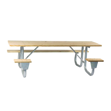 6 Ft. ADA Wooden Picnic Table