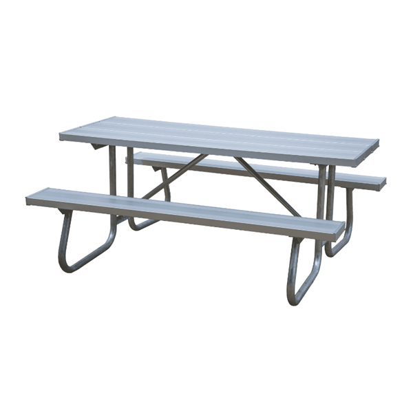 6 Ft. Aluminum Picnic Table with Welded Galvanized Steel Frame