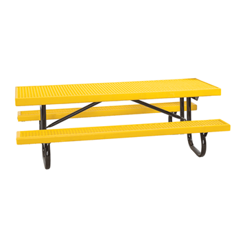 6 Ft. Children's Plastisol Coated Metal Picnic Table