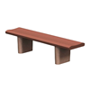 6 Ft. Concrete Contoured Bench without Back